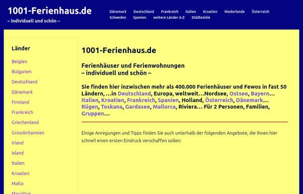 Vorschau von www.1001-ferienhaus.de, 1001-Ferienhaus.de