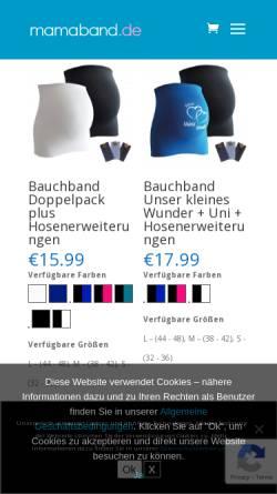 Vorschau der mobilen Webseite www.bauchbandwebshop.de, Bauchbandwebshop, Nicole Antoinette Theodora Bouten-Heijnen