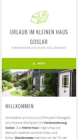 Vorschau der mobilen Webseite ferienwohnung-goslar.ruhe-hollenbach.de, Ferienwohnung Goslar