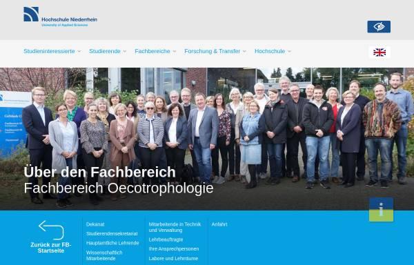 Vorschau von www.hs-niederrhein.de, Fachschaftsrat Oecotrophologie der Hochschule Niederrhein