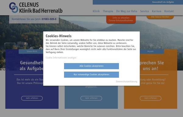Vorschau von www.klinik-bad-herrenalb.de, Klinik Bad Herrenalb GmbH - Fachklinik für Psychosomatische Medizin