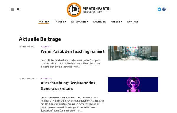 Vorschau von www.piraten-rlp.de, Piratenpartei Rheinland-Pfalz