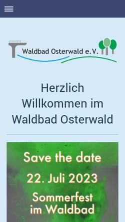 Vorschau der mobilen Webseite waldbad-osterwald.de, Waldbad Osterwald