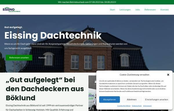 Vorschau von eissing-dachtechnik.de, Eissing Dachtechnik GmbH