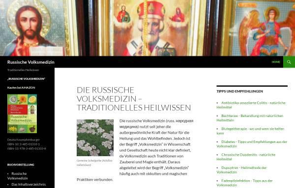 Vorschau von russische-volksmedizin.info, Russische Volksmedizin