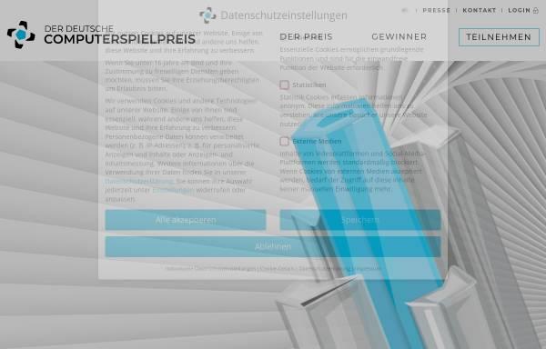 Vorschau von deutscher-computerspielpreis.de, Deutscher Computerspielpreis