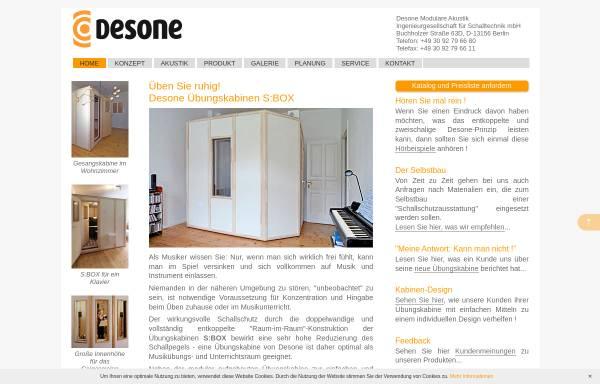 Vorschau von www.soundblocker.de, Desone Modulare Akustik Ingenieurgesellschaft für Schalltechnik mbH
