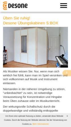Vorschau der mobilen Webseite www.soundblocker.de, Desone Modulare Akustik Ingenieurgesellschaft für Schalltechnik mbH