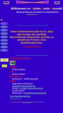 Vorschau der mobilen Webseite www.kuechenweb.de, KüchenCenter Boostedt