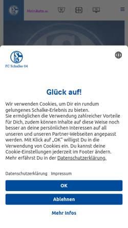 Vorschau der mobilen Webseite www.s04handball.de, HSG Schalke