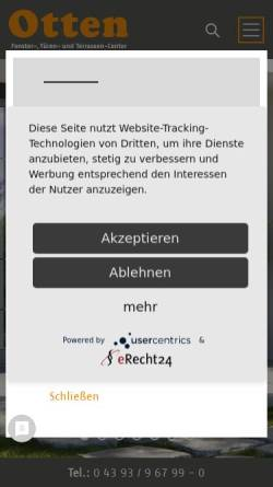 Vorschau der mobilen Webseite www.ottenbau.de, Otten Bauelemente GmbH