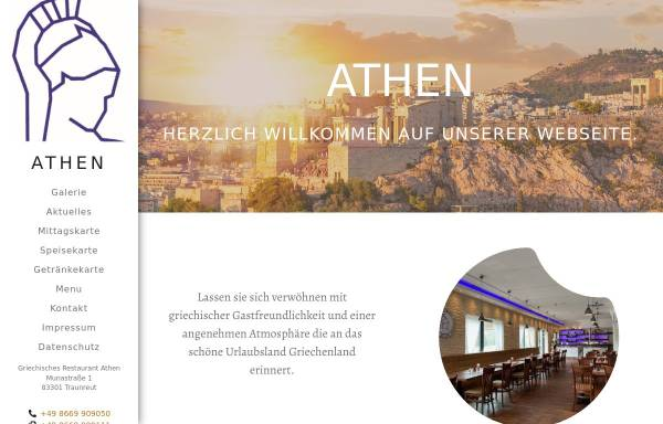 Vorschau von www.athen-traunreut.de, Athen - Griechisches Restaurant