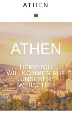 Vorschau der mobilen Webseite www.athen-traunreut.de, Athen - Griechisches Restaurant