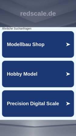 Vorschau der mobilen Webseite www.redscale.de, Redscale Modellbau