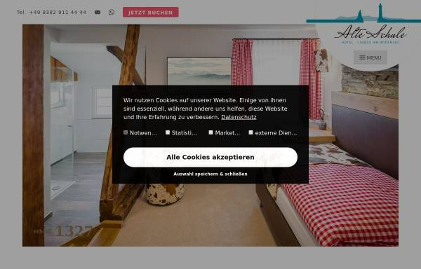 Vorschau von www.hotelalteschule-lindau.de, Alte Schule Lindau
