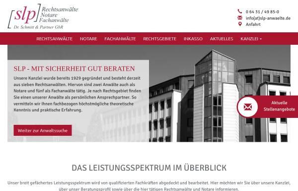 Vorschau von www.slp-anwaelte.de, Dr. Schmitt, Rosbach und Partner, Rechtsanwälte, Notare, Fachanwälte
