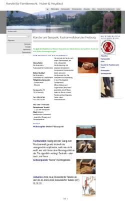 Vorschau der mobilen Webseite www.fachanwalt-freiburg.de, Huber, Georg