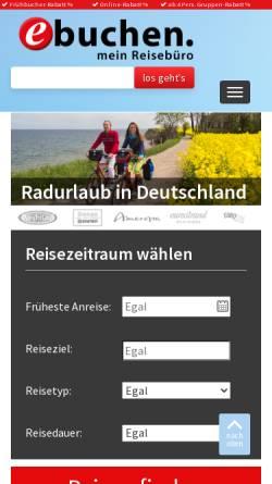 Vorschau der mobilen Webseite www.ebuchen.com, Destinationsentwicklung & Marketing GmbH