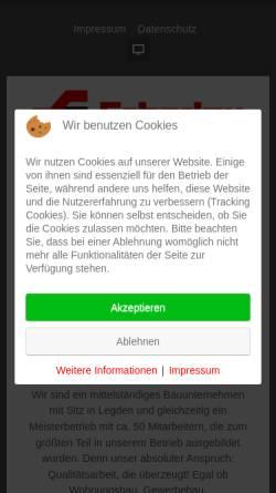 Vorschau der mobilen Webseite www.scharlau-hochbau.de, Scharlau Hochbau