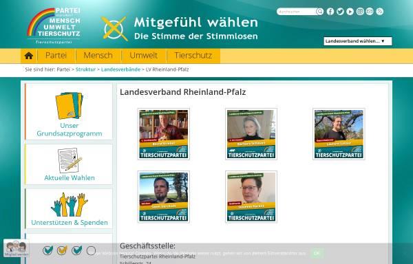 Vorschau von www.tierschutzpartei-rheinland-pfalz.de, Tierschutzpartei Landesverband Rheinland-Pfalz