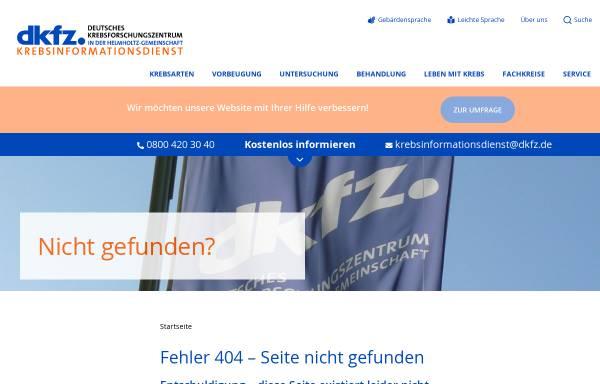 Vorschau von www.krebsinformation.de, Krebsinformation.de