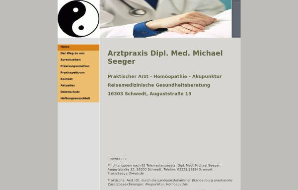 Vorschau von praxisseeger.de, Dipl. Med. Michael Seeger