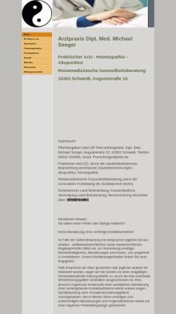 Vorschau der mobilen Webseite praxisseeger.de, Dipl. Med. Michael Seeger