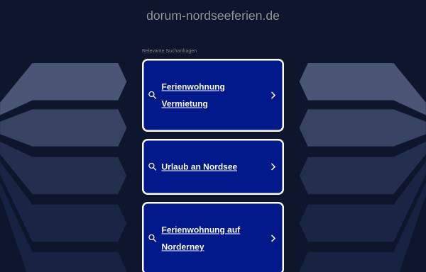 Vorschau von dorum-nordseeferien.de, Ferienhäuser, Ferienwohnungen, Appartements an der Nordseeküste