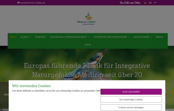Vorschau von www.klinik-imleben.de, Klinik im LEBEN GmbH