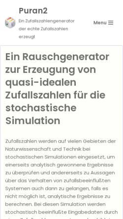 Vorschau der mobilen Webseite puran2.ch, Puran2