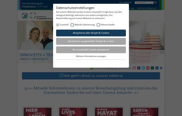 Vorschau von www.sjs-bremen.de, Krankenhaus St. Joseph-Stift Bremen
