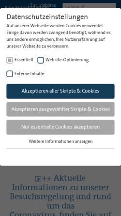 Vorschau der mobilen Webseite www.sjs-bremen.de, Krankenhaus St. Joseph-Stift Bremen