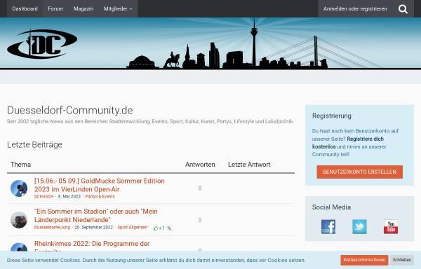 Vorschau von www.duesseldorf-community.de, Düsseldorf Community