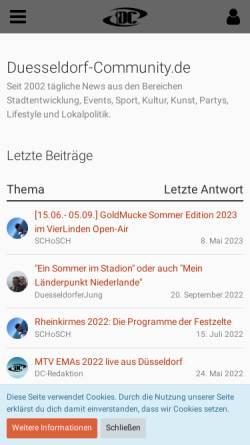 Vorschau der mobilen Webseite www.duesseldorf-community.de, Düsseldorf Community