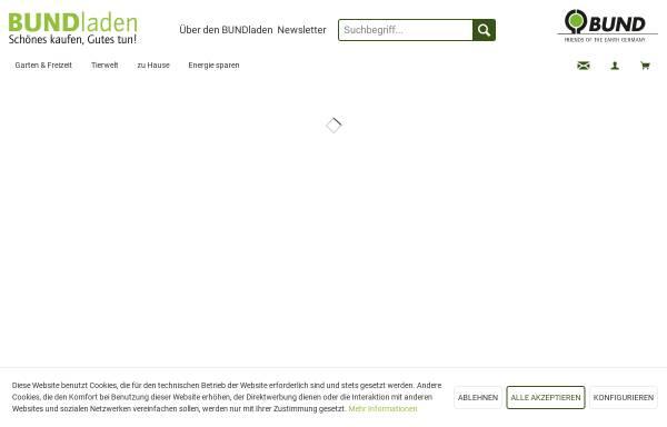 Vorschau von www.bundladen.de, BUNDladen, Natur und Umwelt Service- und Verlags GmbH