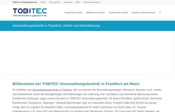 Vorschau von www.tobitec.de, TOBITEC Veranstaltungstechnik - Guba, Berger & Guba GbR
