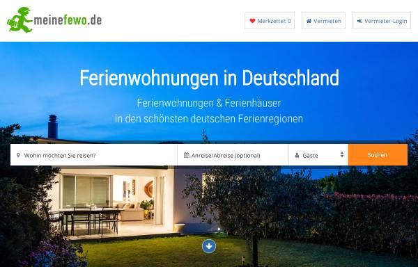 Vorschau von www.meinefewo.de, MeineFewo.de