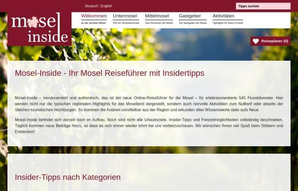 Vorschau von www.mosel-pensionen-hotels.de, Mosel Pensionen und Hotels