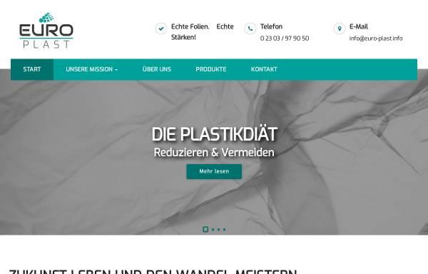 Vorschau von www.euro-plast.info, Europlast-Serviceverpackungen GmbH & Co.KG