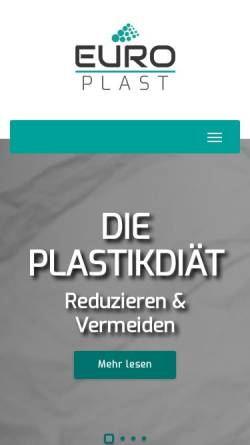 Vorschau der mobilen Webseite www.euro-plast.info, Europlast-Serviceverpackungen GmbH & Co.KG