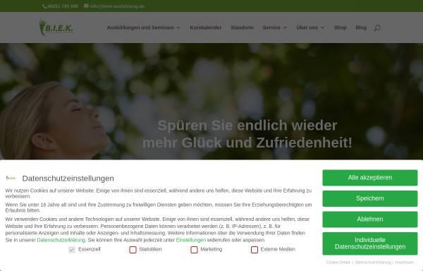 Vorschau von www.biek-ausbildung.de, Bergsträßer Institut für ganzheitliche Entspannung und Kommunikation