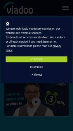 Vorschau der mobilen Webseite www.dfkom.eu, DFKOM - Doktor Faust Kommunikation GmbH