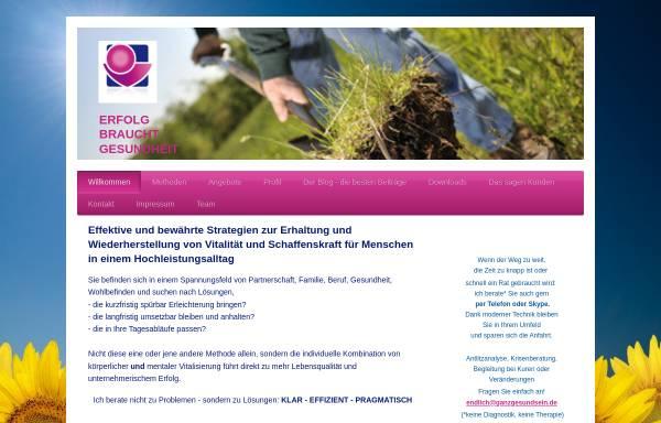 Vorschau von www.ganzgesundsein.de, Renate Richter - Praxis für Gesundheit und Erfolg