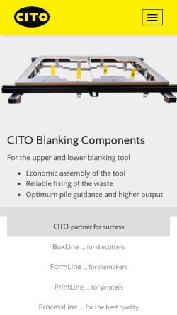 Vorschau der mobilen Webseite www.cito.de, Cito System GmbH