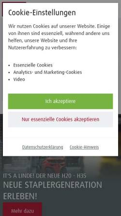 Vorschau der mobilen Webseite www.fsn-foerdertechnik.de, FSN Fördertechnik GmbH