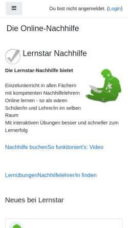 Vorschau der mobilen Webseite www.lernstar.com, Lernstar
