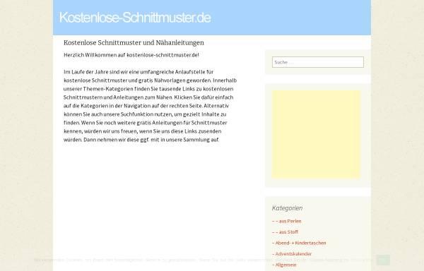Kostenlose-Schnittmuster.de: Nähen, Handarbeiten kostenlose ...