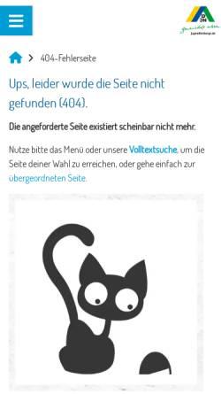 Vorschau der mobilen Webseite www.jugendherberge.de, DJH Landesverband Sachsen-Anhalt e.V.