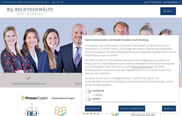 Vorschau von www.bq-rechtsanwaelte.de, BQ-Rechtsanwälte Oppermann, Bergmann & Partner mbB