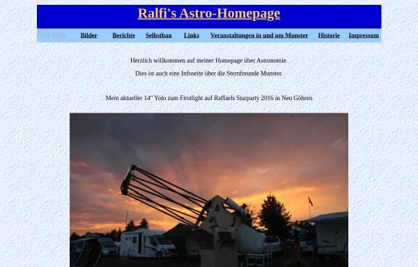 Vorschau von www.astroattack.eu, Ralfi's Astro-Homepage